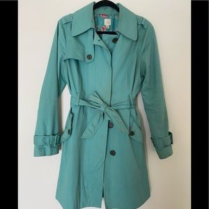 Robins-egg blue Trench
